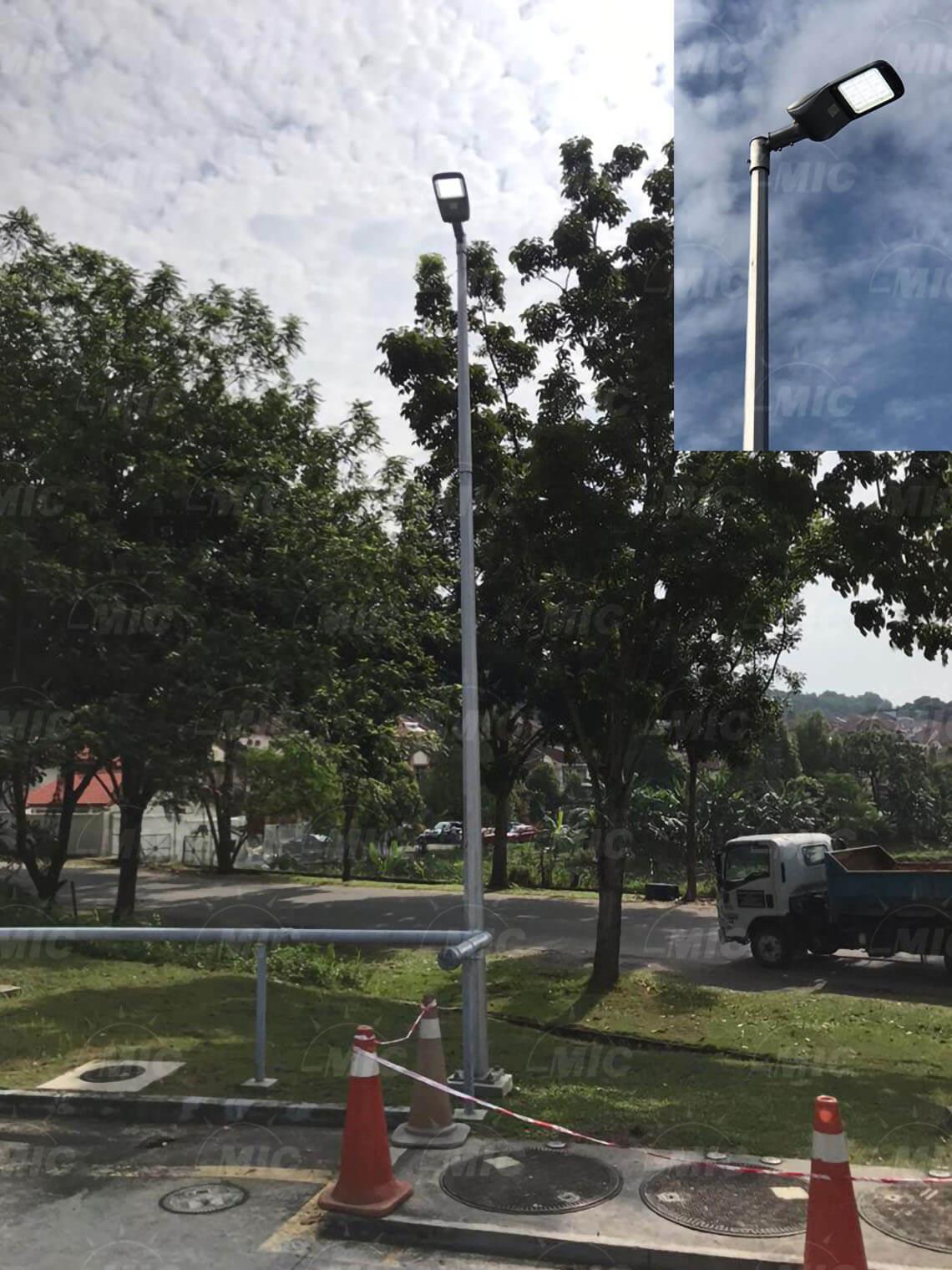 100W LED路灯项目案例01