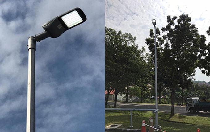 100W LED路灯项目案例1